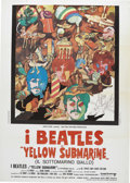 "Music Memorabilia:Posters, Beatles ""Yellow Submarine"" Italian Movie Poster. A 9' x 13' Italianposter for the 1968 animated Beatles feature, in Fine t..."