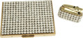 Movie/TV Memorabilia:Props, Marilyn Monroe's Faux Diamond Cigarette Case with Matching Lighter.A glitzy brass cigarette case encrusted on the lid with ...