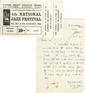 Music Memorabilia:Tickets, Rolling Stones National Jazz Fest Ticket. A partially used seasonticket to the 4th Annual National Jazz Festival, held in S...