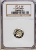 Proof Roosevelt Dimes: , 1973-S 10C PR67 Cameo NGC. NGC Census: (4/47). PCGS Population(16/70). Numismedia Wsl. Price: $7. (#85251)...