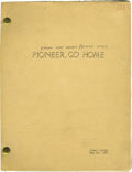 "Music Memorabilia:Memorabilia, ""Follow That Dream"" Script. A vintage copy of the final draft screenplay of the Richard Powell novel Pioneer, Go Home, r..."