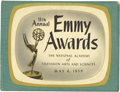 Movie/TV Memorabilia:Autographs and Signed Items, 11th Annual Emmy Awards Signed Program Book. A program for the 11thannual Emmy Awards, held May 6, 1959, signed on the back...