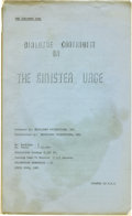 "Movie/TV Memorabilia:Memorabilia, Ed Wood ""The Sinister Urge"" Script. A dialogue continuity scriptfor The Sinister Urge, dated April 24, 1963. Written an..."
