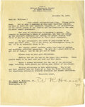 Movie/TV Memorabilia:Autographs and Signed Items, William Randolph Hearst Signed Letter. One-page typed letter onbusiness letterhead, dated November 20, 1933, and signed by ...