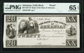 Little Rock, AR- Bank of the State of Arkansas (Branch Issue) $20 18__ G46 Proof PMG Gem Uncirculated 65 EPQ