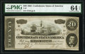 Confederate Notes:1864 Issues, T67 $20 1864 PF-7 Cr. 508 PMG Choice Uncirculated 64 EPQ.. ...