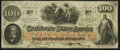 Confederate Notes:1862 Issues, T41 $100 1862 PF-10 Cr. 315A Choice About Uncirculated.. ...