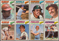 Baseball Cards:Sets, 1977 Topps Cloth Stickers Baseball Complete Set (55+18). ...
