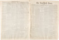 Miscellaneous:Newspaper, New York Times: March 6, 1865 Abraham Lincoln Second Inauguration. ...