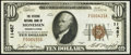 National Bank Notes:Pennsylvania, Monessen, PA - $10 1929 Ty. 1 The Citizens National Bank Ch. # 11487 Extremely Fine.. ...