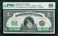 World Currency, Canada Dominion of Canada $1 17.3.1917 DC-23d PMG Extremely Fine 40.. ...