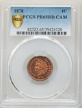 Proof Indian Cents, 1878 1C PR65 Red Cameo PCGS....