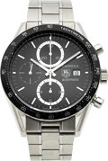 Timepieces:Wristwatch, Tag Heuer, Carrera Automatic, Ref. CV2010 Steel Chronograph. ...