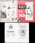 """Movie Posters:Drama, Marty & Other Lot (United Artists, 1955). Overall: Very Fine-. Uncut Pressbooks (4) (Multiple Pages, 12"""" X 15"""", 8.5"""" X 14"""", ... (Total: 5 Items)"""