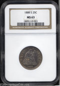 Seated Quarters: , 1888-S 25C MS63 NGC. This is the only branch mint Seated ...