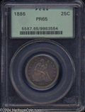 Proof Seated Quarters: , 1886 25C PR65 PCGS. Since the business strike 1886 has ...