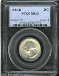 Washington Quarters: , 1932-D 25C MS62 PCGS. Well preserved for the grade and a ...