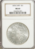 Morgan Dollars: , 1878 7/8TF $1 Strong MS64 NGC. NGC Census: (876/85). PCGSPopulation (1249/194). Mintage: 544,000. Numismedia Wsl. Pricefo...