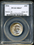 Washington Quarters: , 1941 25C MS67 PCGS. This is tied for finest certified by ...