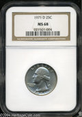 Washington Quarters: , 1971-D 25C MS68 NGC. To date, this is the single finest '...