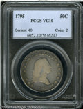 Early Half Dollars: , 1795 50C 2 Leaves VG10 PCGS. O-126a, R.4. All stars and ...