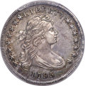 Early Dollars, 1795 $1 Draped Bust, Off-Center, B-14, BB-51, R.2, AU55 PCGS....