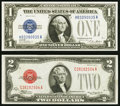 Small Size:Legal Tender Notes, Fr. 1505 $2 1928D Legal Tender Note. Choice CU;. Fr. 1601 $1 1928A Silver Certificate. Choice CU.. ... (Total: 2 notes)