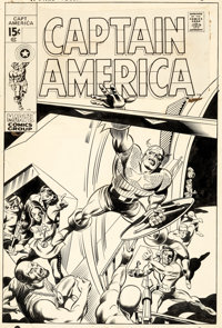 Gene Colan and Joe Sinnott Captain America #123 Cover Original Art (Marvel, 1970)