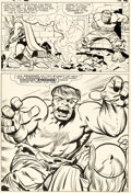 Original Comic Art, Jack Kirby and Chic Stone Journey Into Mystery #112 Story Page 9 Hulk and Thor Original Art (Marvel, 1965)....