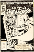 Original Comic Art:Covers, Bob Layton Amazing Spider-Man #220 Cover Moon Knight Original Art (Marvel, 1981)....