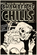 Original Comic Art:Covers, Lee Elias Chamber of Chills #19 Cover Original Art (Harvey, 1953)....