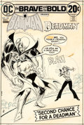 Original Comic Art:Covers, Nick Cardy Brave and the Bold #104 Batman and Deadman Cover Original Art (DC, 1972)....