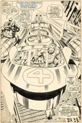 Original Comic Art:Splash Pages, Jack Kirby and Joe Sinnott Fantastic Four #81 Splash Page 11 Original Art (Marvel, 1968)....