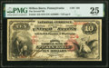 National Bank Notes:Pennsylvania, Wilkes-Barre, PA - $10 1875 Fr. 418 The Second National Bank Ch. # 104 PMG Very Fine 25.. ...