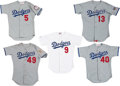 Baseball Collectibles:Uniforms, 1988 Era Los Angeles Dodgers Game Worn Jerseys Lot of 5. ...