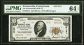 National Bank Notes:Pennsylvania, Wernersville, PA - $10 1929 Ty. 2 The Wernersville National Bank & Trust Company Ch. # 8131 PMG Choice Uncirculated 64...