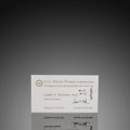Natural History Art:Paintings, James D. Watson Signed Business Card with Double Helix Sketch. ...