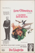 """Movie Posters:Hitchcock, The Birds (Universal International, 1963). Rolled, Very Fine-. Belgian (14"""" X 21.25""""). Hitchcock.. ..."""