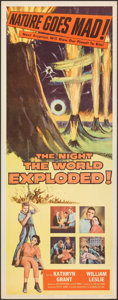 """Movie Posters:Science Fiction, The Night the World Exploded! (Columbia, 1957). Rolled, Very Fine+. Insert (14"""" X 36""""). Science Fiction.. ..."""