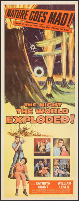"""The Night the World Exploded! (Columbia, 1957). Rolled, Very Fine+. Insert (14"""" X 36""""). Science Fiction"""