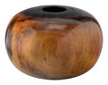 Carvings, Ed Moulthrop (American, 1916-2003). Monumental Bowl. Figured tulipwood. 20 x 29 x 29 inches (50.8 x 73.7 x 73.7 cm). Sig...