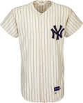 Baseball Collectibles:Uniforms, 1966 Mickey Mantle Game Worn New York Yankees Jersey, MEARS Authentic....