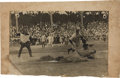 Baseball Collectibles:Photos, 1908 Ty Cobb Oversized World Series Action Mounted Original Photograph from The Ty Cobb Collection....