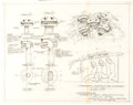 """Animation Art:Concept Art, McDonald's Restaurants """"Talking"""" Burgers and Gobblins Television Commercial Plan Drawings by Wes Cook Original Art Group of 4 ... (Total: 4 Original Art)"""