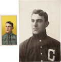 Baseball Collectibles:Photos, Circa 1902 Napoleon Lajoie Original Photograph by Carl Horner, Image Used for T206 Card with Card Included. ...