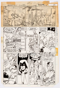 George Perez and Romeo Tanghal The New Teen Titans #33 Story Page 29 Original Art (DC Comics, 1983)