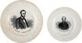 Political:3D & Other Display (pre-1896), Abraham Lincoln and Ulysses S. Grant: ABC Plates.... (Total: 2 Items)