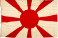 Military & Patriotic:WWII, Admiral Yamamoto's Rank Flag, taken from the Nagato, 30 August 1945. ... (Total: 2 Items)