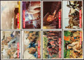 Non-Sport Cards:Sets, 1956 Topps Davy Crockett Complete Orange and Green Near Set (2). ...