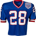 Football Collectibles:Uniforms, 1990-91 Everson Walls Super Bowl XXV Game Worn New York Giants Jersey with Walls Letter. ...